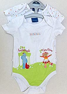 In the Night Garden Iggle Piggle Upsy Daisy 6-9 Months Baby Boy Girl 2 Rompers onesies