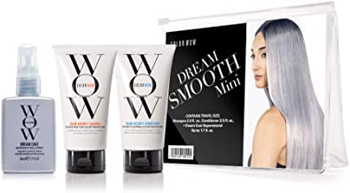 COLOR WOW Dream Smooth Minis, Travel Kit Includes Shampoo, Conditioner and Dream Coat, 2.5 Fl Oz