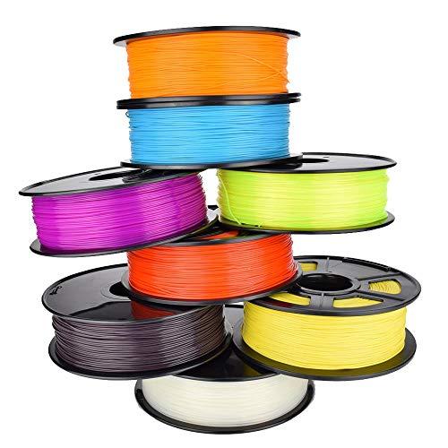 MICEROSHE Filament d'imprimante 3D Pro PLA Filament de 1 kg/Rouleau for différentes imprimantes 3D Couleurs Chosen (Couleur : Violet, Taille : 1.75mm)