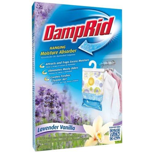 DampRid FG80LV Hanging Moisture Absorber Lavender Vanilla, 14-Ounce by DAMPRID