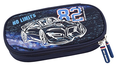 MONSTER CARS 6537 – Trousse à Crayons – Bleu