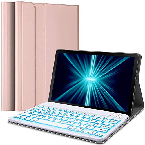 Wineecy Galaxy Tab S5e 10.5 Backlit Keyboard Case SM-T720 / T725 / T727, Protective Cover with Wireless Bluetooth Detachable Keyboard for Samsung Galaxy Tab S5E 10.5 2019 (Galaxy Tab S5e, Pink)