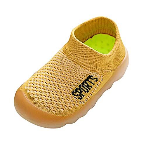 Dtuta Babyschuhe Jungen Schuhe Elastische Schuhe, EIN Pedal, Baby Brief, Strickschuhe, Atmungsaktiv, rutschfest, Bequem, Einfarbig, Wild
