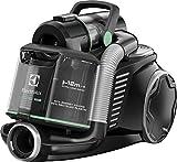 Electrolux Aspirateur sans sac Ultraflex, Système Motion Control, filtre hygiénique 12, 1,6 l Noir