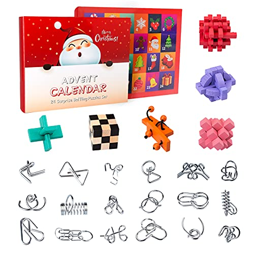 Xshion Rompecabezas 3D IQ para niños con calendario...