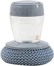 Ububiko Reinigingsborstel, spoelbak van staal, borsteldispenser van staal, opbergset, spoelpad, potspoelspons, metalen spons