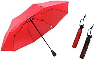 GHMOZ Outdoor Hiking Portable Umbrella Anti-Storm Umbrella Ultra-Light Folding Umbrella Anti-UV Umbrellas Available in Three Colors (Color : Red)