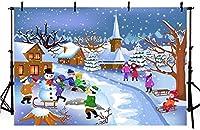7×5ft写真の背景冬の風光明媚な雪の松の木の壁の背景写真スタジオの背景誕生日パーティーの背景抽象的な背景装飾背景壁の背景バナーの背景ポートラ