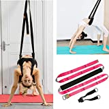 TOCO FREIDO Yoga Fitness Stretching Strap Adjustable Leg Stretcher & Back Assist Trainer, Improve Leg Waist Back Flexibility Great Ballet Cheer Dance Gymnastics Trainer Stretching Equipment Training
