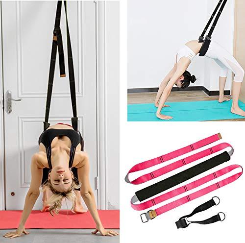 TOCO FREIDO Yoga Fitness Stretching Strap Adjustable Leg Stretcher & Back Assist Trainer, Improve Leg Waist Back Flexibility Great Ballet Cheer Dance Gymnastics Trainer Stretching Equipment Training