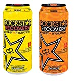 Rockstar Recovery Energy + Hydration - Variety Pack - Lemonade and Orange - 16fl.oz (Pack of 12)