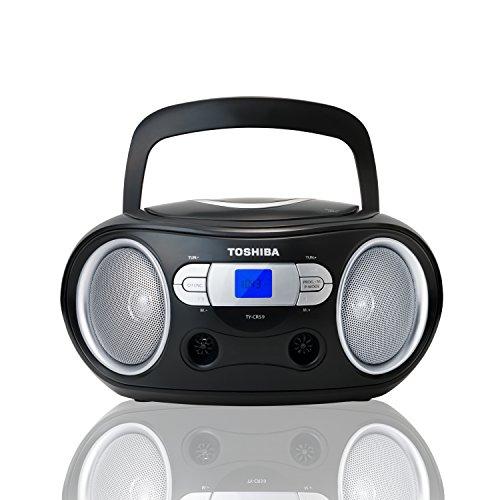 Toshiba Boombox CD Portable Radio FM Noir