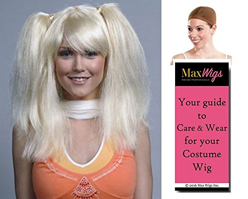 Chrissy Somers Color Blonde - Enigma Wigs Women's Suzanne Chrissi 3's Company 70s Summers Bundle MaxWigs Costume Wig Care Guide