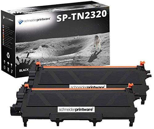 2 Schneider Printware Toner | je 6.000 Seiten | kompatibel zu Brother TN-2320 TN2320 für Brother DCP-L2500D DCP-L2520DW DCP-L2540DN HL-L2300D HL-L2340DW HL-L2360DN