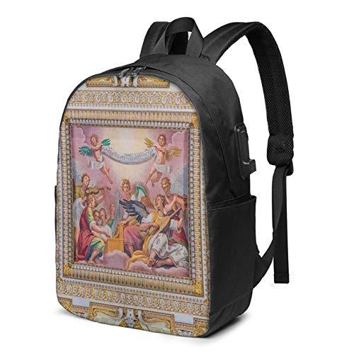 Laptop Rucksack Business Rucksack für 17 Zoll Laptop, Rom Italien 271 Schulrucksack Mit USB Port für Arbeit Wandern Reisen Camping, für Herren Damen