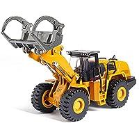 ダイカスト合金エンジニアリング車両おもちゃウッドグラバーローダーシミュレーションモデルハロウィーンの男の子の車の建設モデル34 5 6 78歳の男の子女の子Kisdのための最高のクリスマスの誕生日プレゼント