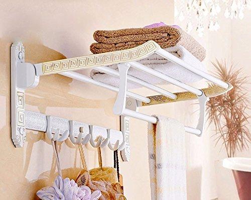 CXHMY Handtuchhalter Regal Bad Ständer Farbe Kupferrohr Falten