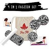 Faszien Fitness Set: 2 Faszienrollen + 2...