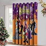 DRAGON VINES Cortina de aislamiento con ojales para sala de estar de Halloween lindo fondo de Mickey para decoración del hogar Set de 2 paneles W84 x L107