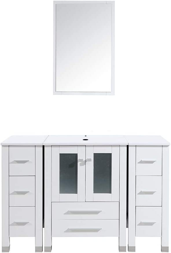 48 Inch Bathroom Vanity Double Side Albuquerque Mall and Cabinet Surprise price Sink Comb
