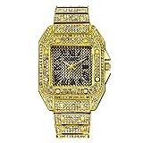 Relojes Para Mujer Reloj de las mujeres romanas cuadradas Correa de acero inoxidable Rhinestone Reloj de pulsera Reloj de pulsera Reloj Lady Regalo Mujer Relojes Decorativos Casuales Para Niñas Damas