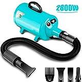 amzdeal Dog Dryer 2800W/3.8HP Stepless Adjustable Speed Dog Hair Dryer...