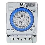 timer 220v 10a manuale programmabile giornaliero temporizzatore temporizzatore meccanico analogico 24 ore 15 minuti [classe di efficienza energetica a+++]