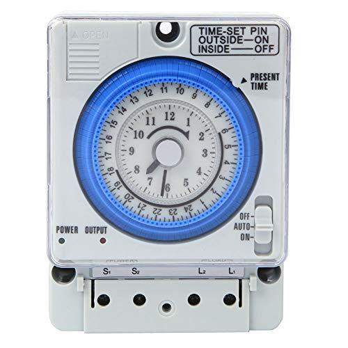 Interruptor de temporizador, temporizador de relé de encendido y apagado para jardín al aire libre