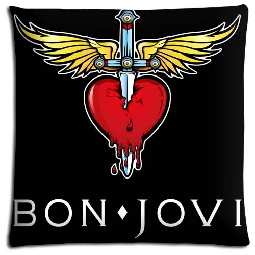 Polyester Katoen Sofa Kussensloop Sumptuous Bon Jovi Koele Rits 16x16 inch 40x40 cm