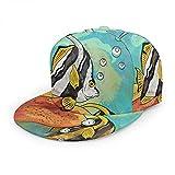 Peces de Acuario Sombrero Gorra de Béisbol Mujeres Hombres,Colorido Pez Ángel Barbus Barb Burbuja Danio Marine Animal Hip Hop Snapback Trucker Hat Flat Brim Baseball Hat