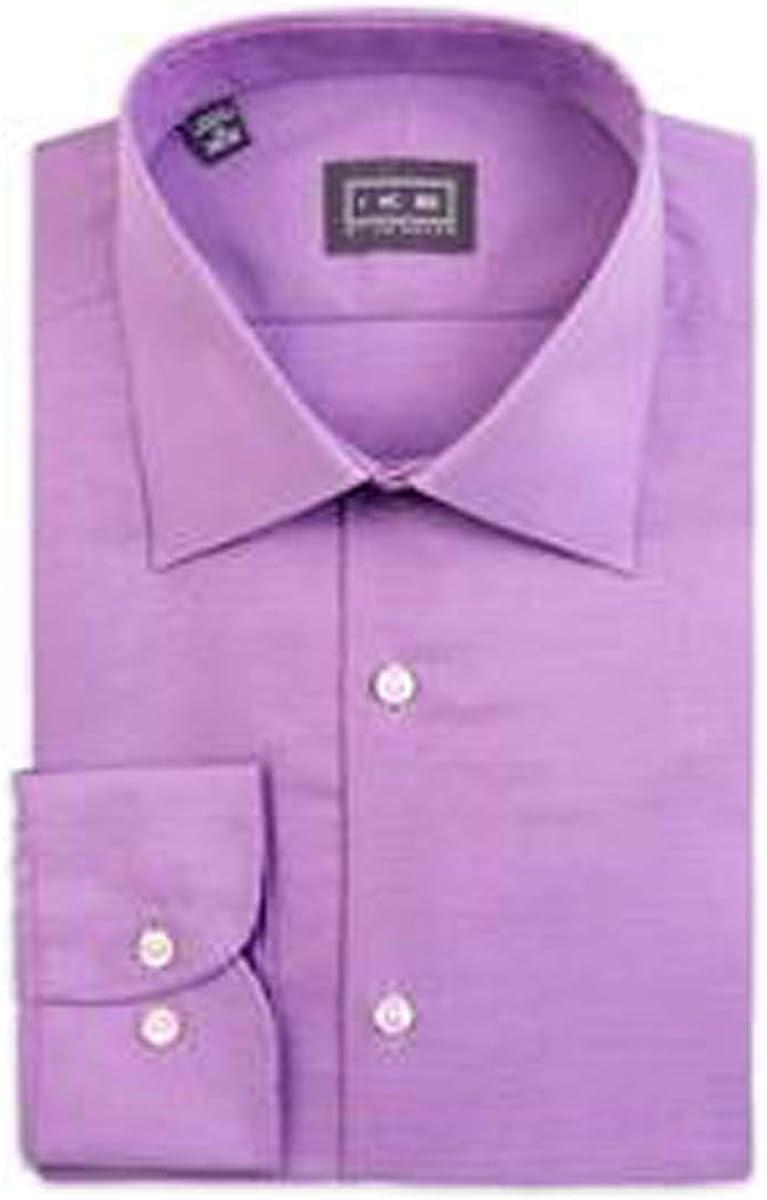 IKE Behar Lavender Textured Dress Shirt
