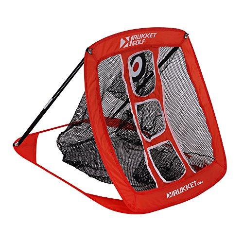 Rukket Pop Up Golf Chipping Net | Outdoor / Indoor Golfing Target Accessories and Backyard Practice Swing Game | Includes 12 Foam Practice Balls