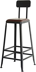 ZHJBD Furniture Stool Vintage Industrial Bar Stools Backless Backrest Retro Kitchen Bar Chairs Wood Top Metal and Wood Bar Stool for Indoor-Outdoor  Counter Bar Chairs Seat Height 29 5inch