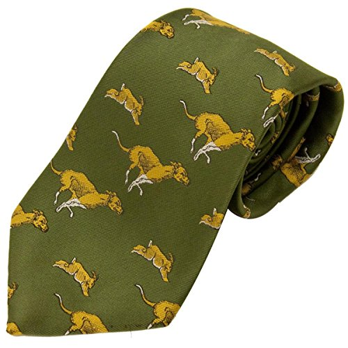 Bisley Hare and Hounds Polyester Tie - Shooting and hunting - Handmade