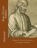 Ante-Nicene Fathers: Volume III. Latin Christianity: Its Founder, Tertullian - Alexander Roberts