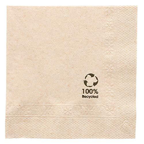 Garcia De Pou - gerecyclede servetten 2 lagen 18 g/m2 in doos, papier, bruin, 20 x 20 cm, 100 stuks