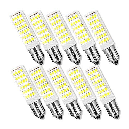 Bombillas Filamento LED E14, Forma de Llama, 4W Equivalente a 40w, Blanco Frío 6500K / 400 Lúmenes/AC 200-240V, No regulable, Pack de 6Unidades