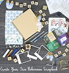 KreativeKraft Scrapbook Accessories Kit with Scrapbooking Supplies, Over 60 Creative Items Including Stickers, Glitter Glue Pens, Paper, Photo Album, Letters, Quotes, Embellishments, Gift for Her #1