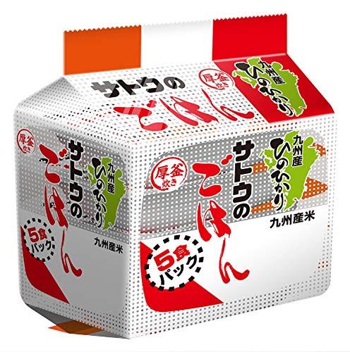 サトウ サトウのごはん ひのひかり 5食パック ×8袋