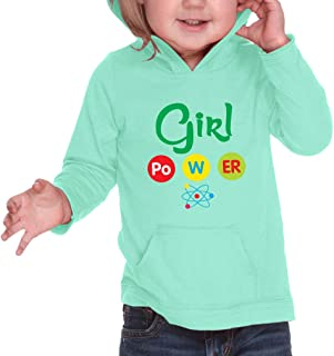 Cute Rascals Girl Po W Er Science Hooded Boys-Girls Cotton/Polyester RawEdge Hoodie