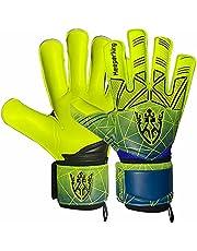 Keeperking Keeperhandschoenen volwassenen kinderen jeugd met en zonder vingerbescherming voetbalhandschoenen afneembaar vingersave 4 mm unisex meerdere maten en kleuren