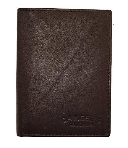 Herren Portemonnaie aus weichem echtem Leder im Hochformat Robuste Geldbörse Ledergeldbörse Geldbeutel Mocca 5600 (Mocca)