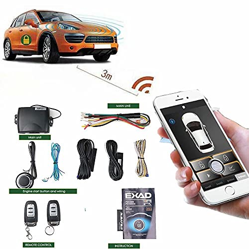 Remote Start for Cars PKE Keyless Entry Car Door Lock System One Button Automatic Remote Car Engine Starter for Smart Key or Phone Control