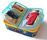 Cars Kinder Brotdose mit 3 Fächern,Kids Lunchbox,Bento Brotbox für Kinder - ideal für Schule, Kindergarten oder Freizeit