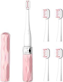 コリミダ(COLIMIDA) 電動歯ブラシ 子供歯ブラシ 音波振動 スマートソニック 携帯に便利な 防水式 替えブラシ4本 歯ブラシシステマ 極細毛 タイプ ルージュ ピンク