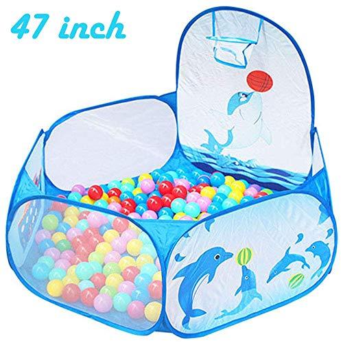 Toyshine Kids Ball Pit Ball Tent House Ball Pit with Basket