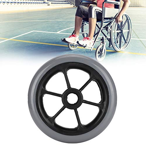 Rueda de repuesto para silla de ruedas, ruedas eléctricas, resistentes al desgaste, piezas de repuesto para silla de ruedas, accesorios Walker de 6 pulgadas