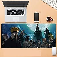 NARUTO マウスパッド マウスパッド 快適な防水表面 ノンスリップマウスマット ノートパソコン デスクトップコンピュータ オフィスアクセサリ-A_400*900*3MM