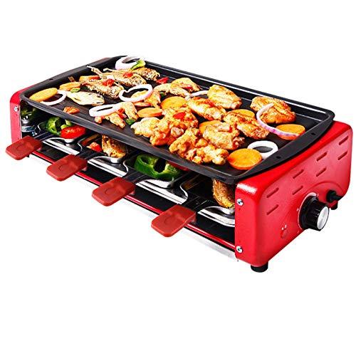 Máquina de cocinar olla caliente eléctrica casera Barbacoa cubierta Plancha con Revestimiento...
