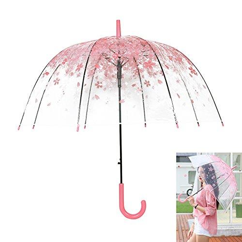 Regenschirm Durchsichtiger Sakura Stockschirm Kirschblüte Transparentschirm Hochzeitfeier...